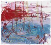 <p>Rebekka Steiger, <em>untitled</em>, 2018, gouache and pastel on paper, 38 x 43 cm</p>