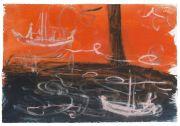 <p>Rebekka Steiger, <em>untitled</em>, 2018, gouache and pastel on paper, 39 x 57 cm</p>