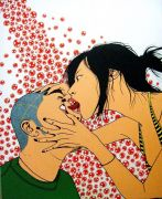 "<p isrender=""true"">陈飞,<em isrender=""true"">沙眼</em>, 2006,亚麻布、丙烯,110 x 90 cm</p>"
