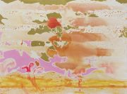 <p>Rebekka Steiger, <em>noise</em>, 2019, oil and gouache on canvas, 180 x 240 cm</p>