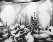 <p>Julia Steiner, <em>interior (performance)</em>, 2012, gouache on paper, 120 x 150 cm</p>