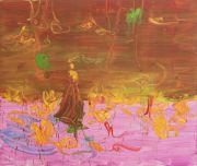 <p>Rebekka Steiger, <em>lady bird</em>, 2018, oil, tempera and pastel on canvas, 200 x 240 cm</p>