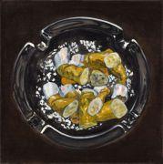 "<p>Meng Huang,&nbsp;<em isrender=""true"">Cigarettes No. 10</em>,&nbsp;2011, oil on canvas, 80 x 80 cm</p>"