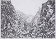 """<p>Meng Huang,&nbsp;<em isrender=""""true"""">Valley</em>,&nbsp;2005, charcoal on paper, 77 x 109 cm</p>"""