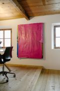 <p>Exhibition View of <em>Minestrone</em>, 2021, Ardez, Switzerland (Ju Ting, <em>Untitled 062919</em>, 2019)</p>