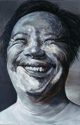 <p>孟煌,<em>国际脸二</em>,2003,布面油画,280x 180 cm</p>