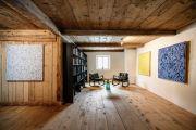 <p>Exhibition View of <em>Transition</em>, 2021, Ardez, Switzerland (Mirko Baselgia, <em>Squares</em>, 2020)</p>