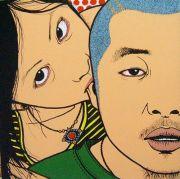 """<p>陈飞,<em isrender=""""true"""">?</em>,2006,亚麻布、丙烯,30 x 30 cm</p>"""