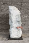 <p>Cao Yu, <em>Undead</em>,&nbsp;2017 (series of 3 works), marble, fresh meat, 143 x 60 x 60 cm</p>