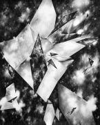 <p>Julia Steiner, <em>space fiction</em>, 2013, gouache on paper, 202 x 162 cm</p>