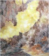 """<p isrender=""""true"""">尤莉亚&middot;斯坦纳,<em>untitled</em>,2013 - 2017,玻璃纸上油画,149.5 x 133 cm (带框)</p>"""