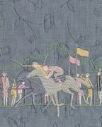 <p>Tobias Kaspar, <em>Jockey (violet, gray)</em>, 2019, 1/3, c-print, mounting on acrylic board, white wooden frame, 200 x 160 cm (photo); 207 x 165.25 x 5 cm (framed), edition of 2 + 1 AP</p>