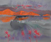 <p>Rebekka Steiger, <em>山水花</em>, 2020, tempera, ink and oil on canvas, 200 x 240 cm</p>