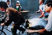 "<p>Wang Xingwei, <em isrender=""true"">New Beijing</em>, 2001, oil on canvas, 200 x 300 cm</p>"