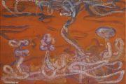 <p>Rebekka Steiger, <em>untitled</em>, 2018, tempera, oil and oil crayon on canvas, 30 x 45 cm</p>
