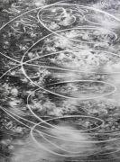 <p>Julia Steiner, <em>circular flight I</em>, 2020, gouache on paper, 202 x 150 cm</p>