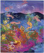 <p>Rebekka Steiger, <em>Fish knows</em>, 2018, oil, tempera and pastel on canvas, 240 x 200 cm</p>