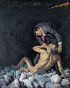 "<p>Wang Xingwei,<em isrender=""true""> To Hurt</em>, 1994, oil on canvas, 210 x 170 cm</p>"
