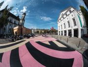 <p>Lang/Baumann, <em>Street Painting #9</em>, 2017, road signalling colour, 20 x 53 m, installation view, Theaterplatz, Lucerne, Switzerland</p>