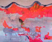<p>高嫣(Rebekka Steiger),<em>melting hills</em>,2020,布面水墨蛋彩画,190 x 240 cm</p>