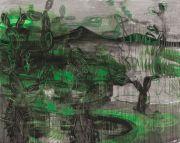 <p>Rebekka Steiger, <em>sixteen ways to turn a corner</em>, 2019, oil, tempera and oil crayon on canvas, 190 x 240 cm</p>