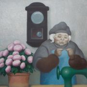 "<p>Wang Xingwei, <em isrender=""true"">untitled (old lady No. 3)</em>, 2010, oil on canvas, 100 x 100 cm</p>"