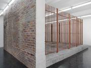 <p>Mirko Baselgia, <em>Lupus II</em>,&nbsp;2014, exhibition view Kunstmuseum Olten 2014, wood, styrofoam, plaster, pigments, water, 253cm x 407cm x 506cm, photo: Stefan Altenburger</p>