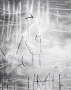 <p>Julia Steiner, <em>Witterung (Worte 4)</em>, 2019, gouache on paper, 75 x 60 cm</p>