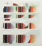 <p>Tanya Goel, <em>Quadrant 3</em>, 2019, silk, crushed glass and acrylic pigments on<br /> canvas, 71 x 66 cm</p>