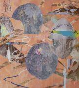 <p>Wang Shang, <em>C Rock 26</em>, 2017, acrylic, screenprint, canvas, 200 x 180 cm</p>