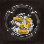 """<p>孟煌,<em isrender=""""true"""">香烟 No. 5</em>,2011,布面油画,80 x 80 cm</p>"""