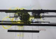 <p>Rebekka Steiger, <em>propeller</em>, 2020, ink, tempera and oil on canvas, 170 x 240 cm</p>