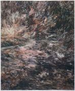 """<p isrender=""""true"""">尤莉亚&middot;斯坦纳,<em>untitled</em>,2013,玻璃纸上油画,109.5 x 90 cm (带框)</p>"""