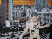 "<p>Chen Fei, <em isrender=""true"">I am the Jungle</em>, 2015, acrylic on linen, 180 x 240 cm</p>"