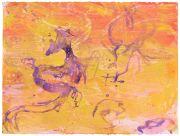 <p>高嫣,<em>untitled</em>,2018,纸上蜡笔水粉,58 x 76 cm</p>