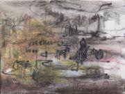 <p>Rebekka Steiger, <em>on a wayward path</em>, 2019, oil and tempera on canvas, 30 x 40 cm</p>