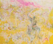 <p>Rebekka Steiger, <em>tilting at windmill</em>s, 2018, oil and tempera on canvas, 200 x 240 cm</p>