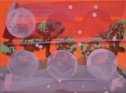 <p>Rebekka Steiger, <em>untitled</em>, 2021, tempera, ink and acrylic on canvas, 30 x 40 cm</p>