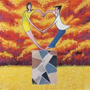"<p>Wang Xingwei, <em isrender=""true"">untitled (heart-shaped dance)</em>, 2006, oil on canvas, 200 x 200 cm</p>"