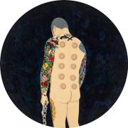 "<p isrender=""true"">Chen Fei, <em isrender=""true"">A Sorrowful Peasant</em>, 2013, acrylic on linen, &empty; 150 cm</p>"