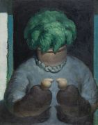"<p>Wang Xingwei, <em isrender=""true"">untitled (flowerpot old lady)</em>, 2011, oil on canvas, 117 x 91.5 cm</p>"