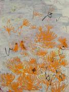 <p>Rebekka Steiger, <em>untitled</em>, 2018, oil, tempera and pastel on canvas, 240 x 180 cm</p>