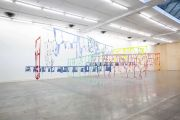 <p>Marion Baruch, <em>Endless going trying to say</em>, 2020, various fabrics, metal, dimensions variable (site-specific)</p>