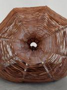 <p>Mirko Baselgia, <em>youmeyou</em>, 2021, detail, steamed ash wood, handwoven linen from the Tessanda Val M&uuml;stair, organic beeswax, pigments from radiolarite (Alp Flix), length: 253 cm, &oslash; 165 cm, photo by Stefan Altenburger</p>